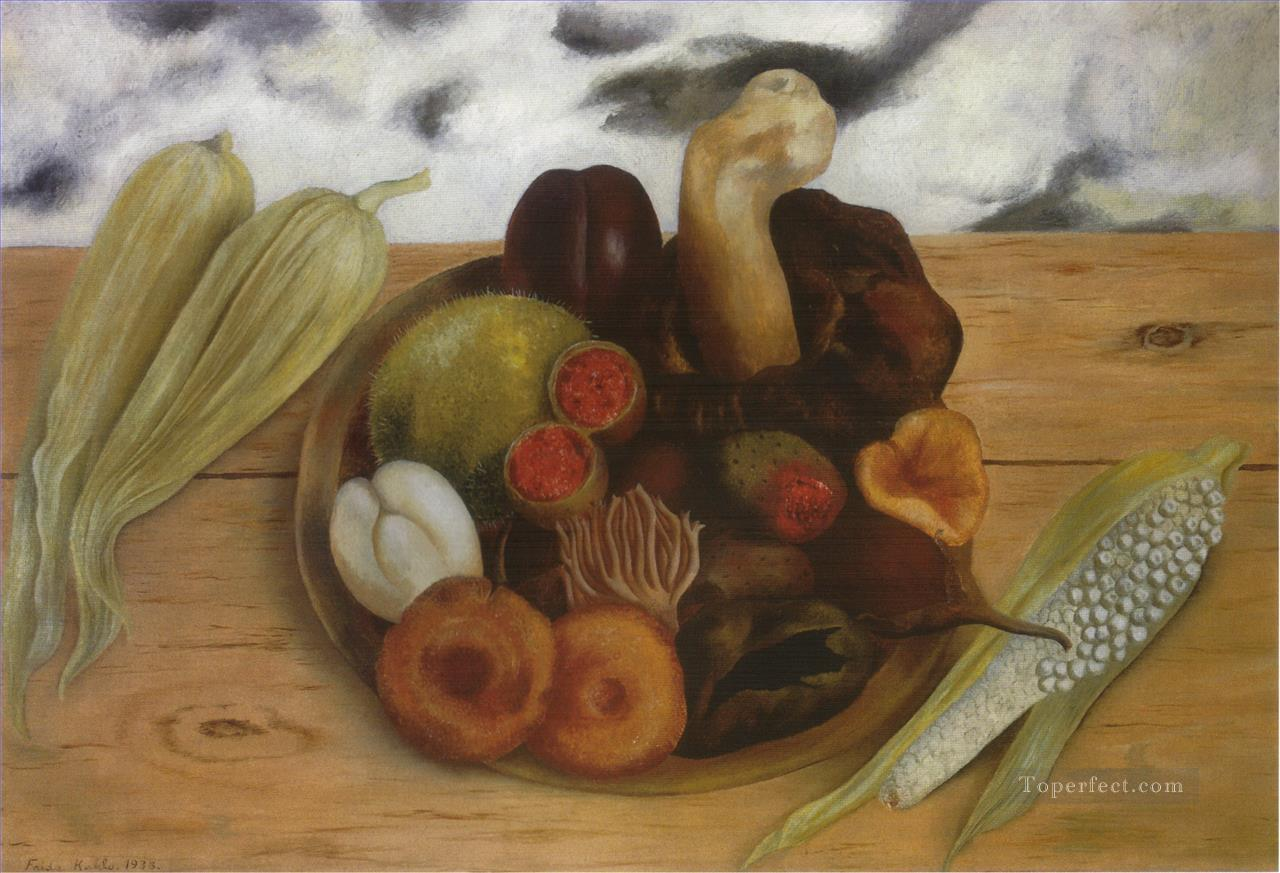 Fruits of the Earth Frida Kahlo still life decor Oil Paintings